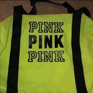 1 VS PINK Neon Mini Duffle Bag YELLO ONLY LEFT